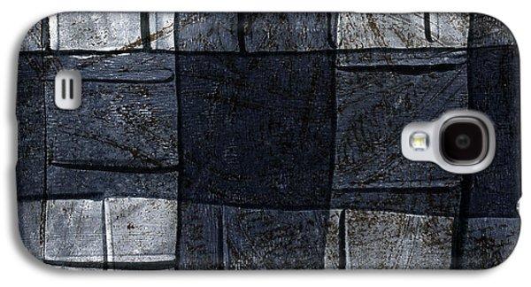 Indigo Squares 4 Of 5 Galaxy S4 Case by Carol Leigh
