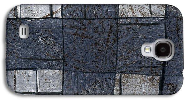 Indigo Squares 5 Of 5 Galaxy S4 Case by Carol Leigh