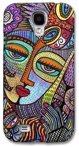 Indigo Tapastry Royal Cats Galaxy S4 Case by Sandra Silberzweig