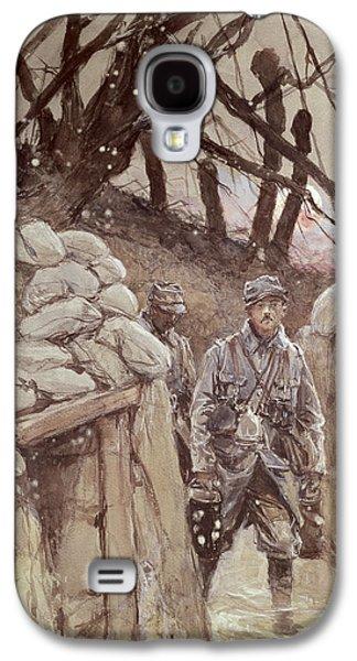 Infantrymen In A Trench, Notre-dame De Lorette, 1915 Wc On Paper Galaxy S4 Case