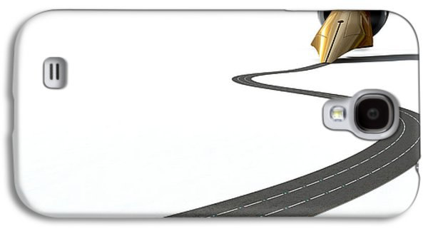 Infrastructure Pen And Road Galaxy S4 Case by Allan Swart