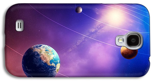Inner Solar System Planets Galaxy S4 Case by Johan Swanepoel