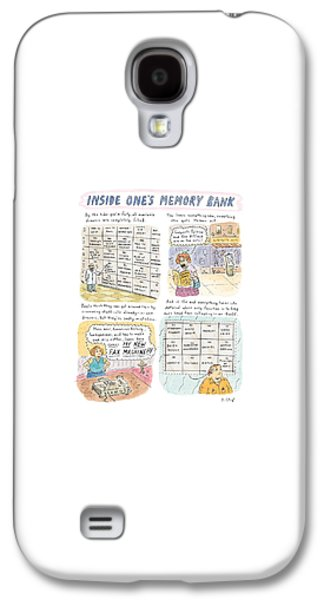 'inside One's Memory Bank' Galaxy S4 Case by Roz Chast
