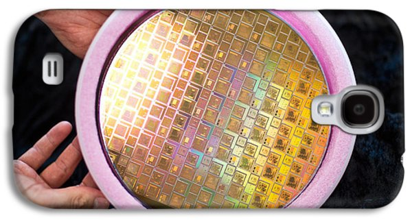 Integrated Circuits On Silicon Wafer Galaxy S4 Case by Science Source