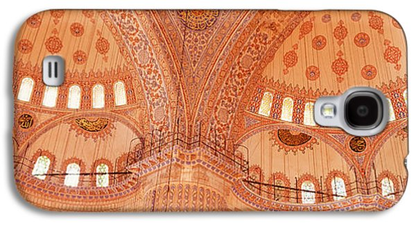 Interior, Blue Mosque, Istanbul, Turkey Galaxy S4 Case by Panoramic Images