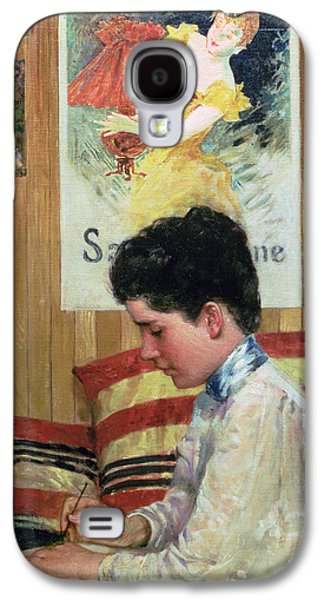 Interior Of A Country Studio Galaxy S4 Case by James Carroll Beckwith