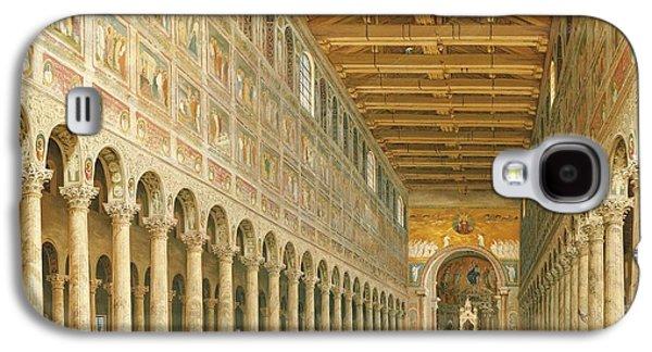 Interior Of San Paolo Fuori Le Mura Galaxy S4 Case by Giovanni Paolo Panini