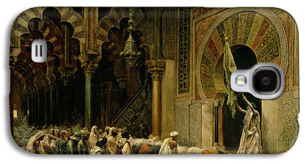 Interior Of The Mosque At Cordoba Galaxy S4 Case by Edwin Lord Weeks
