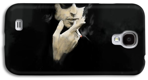 Inwardly Faded  Bob Dylan Galaxy S4 Case by Iconic Images Art Gallery David Pucciarelli