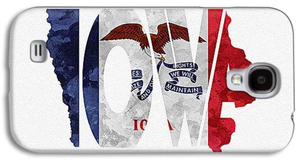 Iowa Typographic Map Flag Galaxy S4 Case