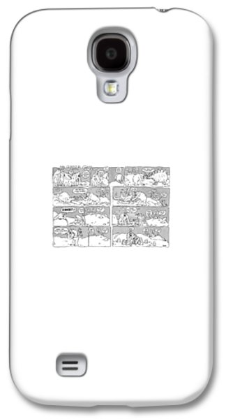 Ape Galaxy S4 Case - 'ip Gissa Gul' by George Booth