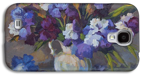 Irises Galaxy S4 Case by Diane McClary