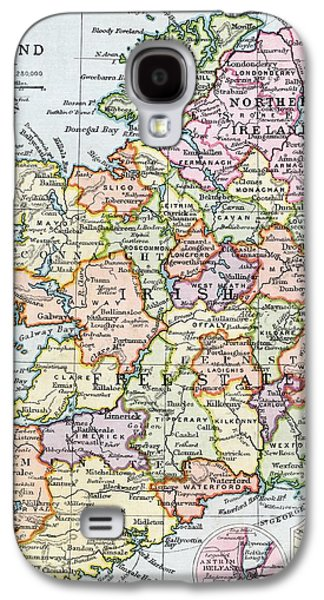 Irish Free State And Northern Ireland From Bacon S Excelsior Atlas Of The World Galaxy S4 Case by English School