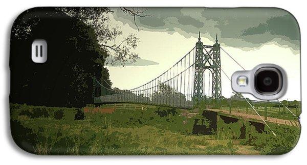 Iron Footbridge Near Doveridge, Elegant Suspension Bridge Galaxy S4 Case by Litz Collection