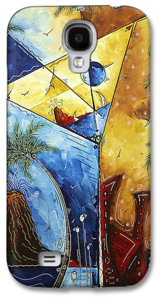 Island Martini  Original Madart Painting Galaxy S4 Case by Megan Duncanson