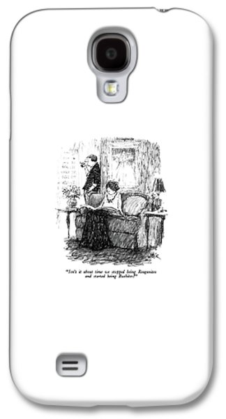 Isn't It About Time We Stopped Being Reaganites Galaxy S4 Case by Robert Weber