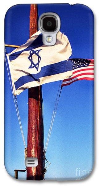 Israeli Flag And Us Flag Galaxy S4 Case by Thomas R Fletcher