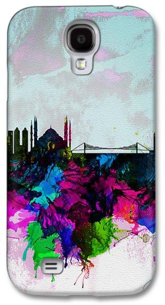 Istanbul Watercolor Skyline Galaxy S4 Case by Naxart Studio