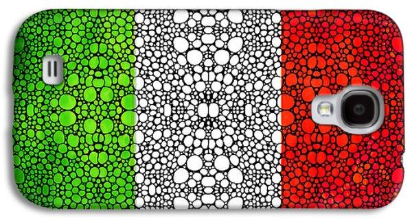 Italian Flag - Italy Stone Rock'd Art By Sharon Cummings Italia Galaxy S4 Case by Sharon Cummings