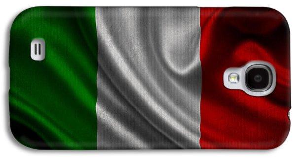 Italian Flag Waving On Canvas Galaxy S4 Case by Eti Reid
