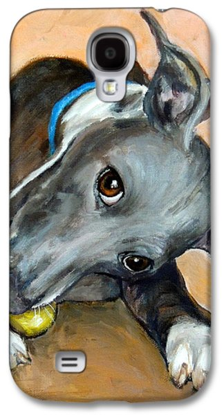 Italian Greyhound With Ball Galaxy S4 Case by Dottie Dracos