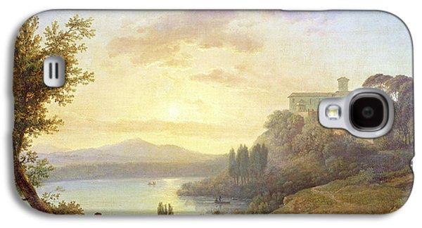 Italian Landscape, Setting Sun Galaxy S4 Case by Jean-Francois Hue