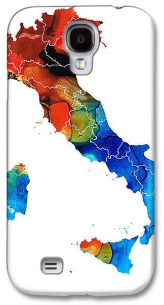 Italy - Italian Map By Sharon Cummings Galaxy S4 Case