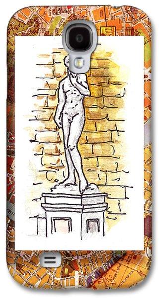 Italy Sketches Michelangelo David Galaxy S4 Case