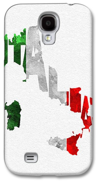 Italy Typographic Map Flag Galaxy S4 Case