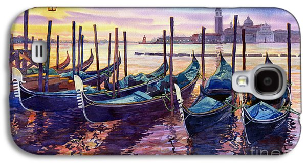 Boat Galaxy S4 Case - Italy Venice Early Mornings by Yuriy Shevchuk