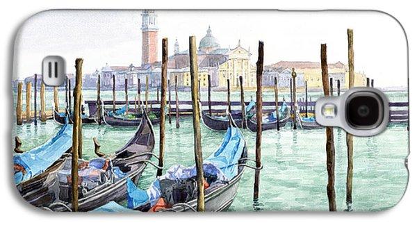 Italy Venice Gondolas Parked Galaxy S4 Case by Yuriy Shevchuk