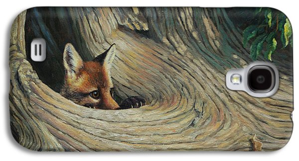 Fox - It's A Big World Out There Galaxy S4 Case by Crista Forest