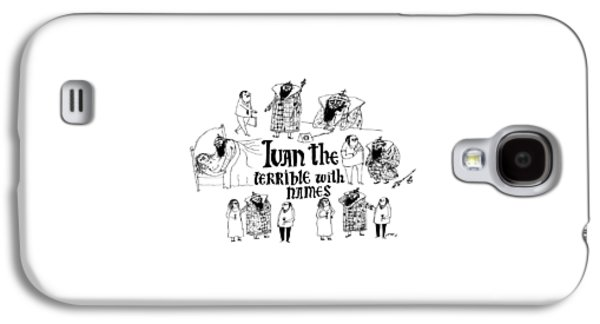 Ivan The Terrible With Names -- Scenes Of Ivan Galaxy S4 Case by Edward Steed