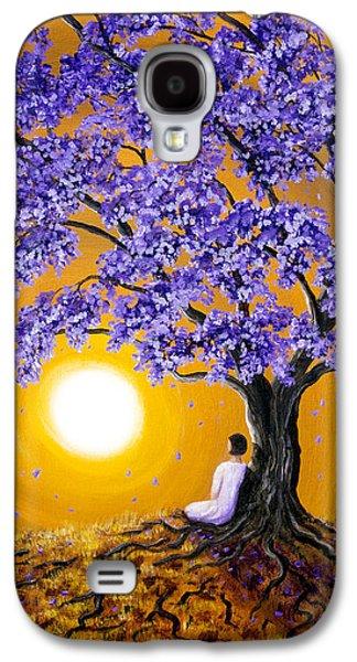 Jacaranda Sunset Meditation Galaxy S4 Case by Laura Iverson
