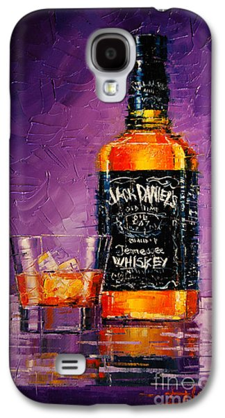 Still Life With Bottle And Glass Galaxy S4 Case by Mona Edulesco