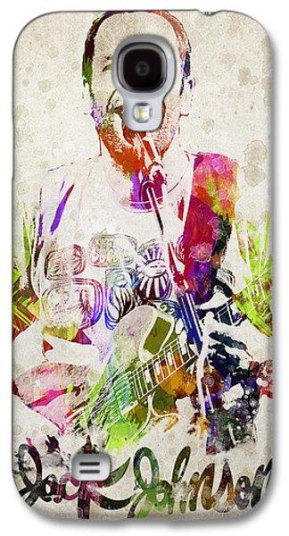 Jack Johnson Portrait Galaxy S4 Case