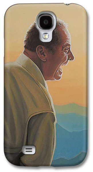 Jack Nicholson Galaxy S4 Case - Jack Nicholson And Morgan Freeman by Paul Meijering