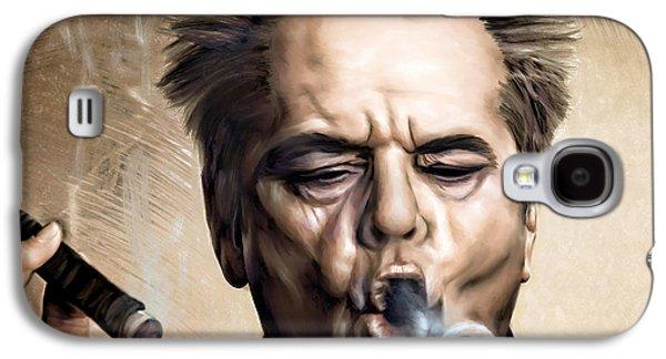 Jack Nicholson Galaxy S4 Case by Andrzej Szczerski