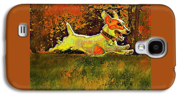 Jack Russell In Autumn Galaxy S4 Case by Jane Schnetlage