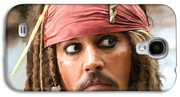 Jack Sparrow Galaxy S4 Case by Paul Tagliamonte