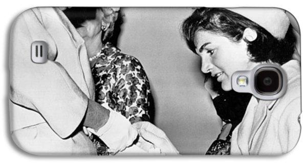 Jackie Inspects Gold Bracelet Galaxy S4 Case by Underwood Archives