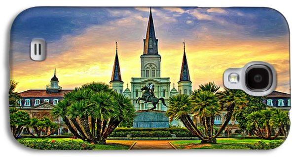 Jackson Square Evening - Paint Galaxy S4 Case by Steve Harrington