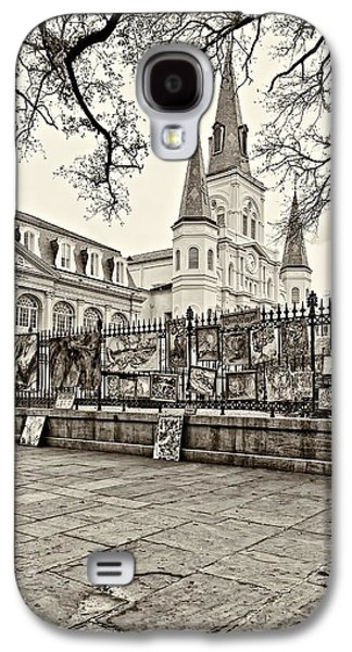 Jackson Square Winter Sepia Galaxy S4 Case by Steve Harrington