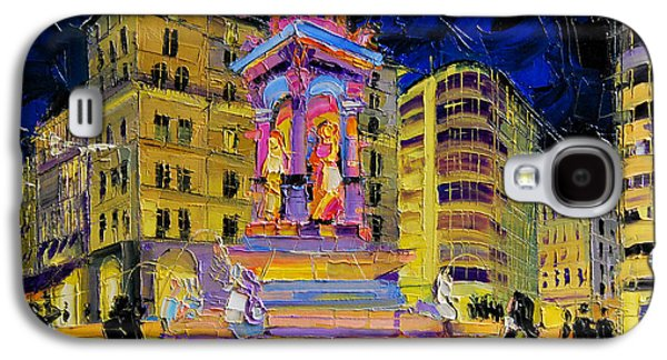 Jacobins Fountain During The Festival Of Lights In Lyon France  Galaxy S4 Case