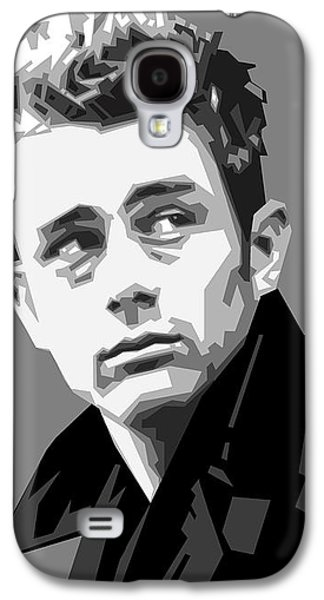James Dean In Black And White Galaxy S4 Case by Douglas Simonson