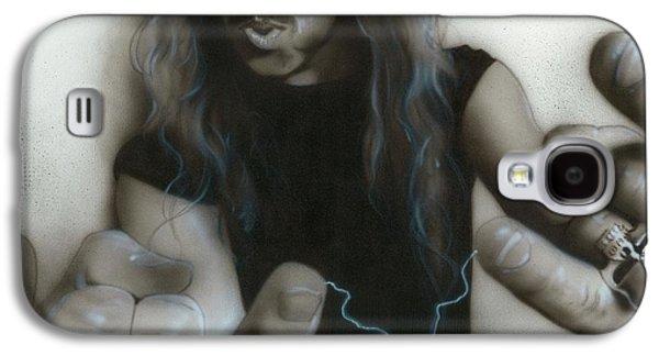 Metallica Galaxy S4 Cases - James Hetfield Galaxy S4 Case by Christian Chapman Art