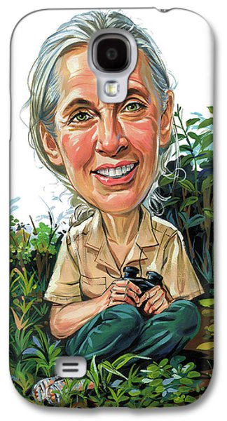 Jane Goodall Galaxy S4 Case by Art