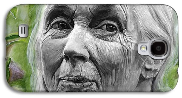 Jane Goodall Galaxy S4 Case by Simon Kregar