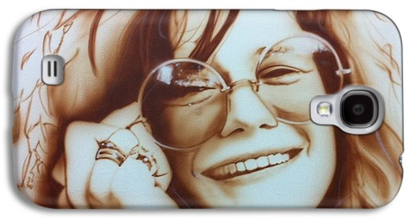Rock And Roll Galaxy S4 Case - Janis by Christian Chapman Art
