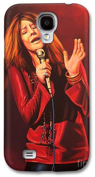Janis Joplin Painting Galaxy S4 Case by Paul Meijering